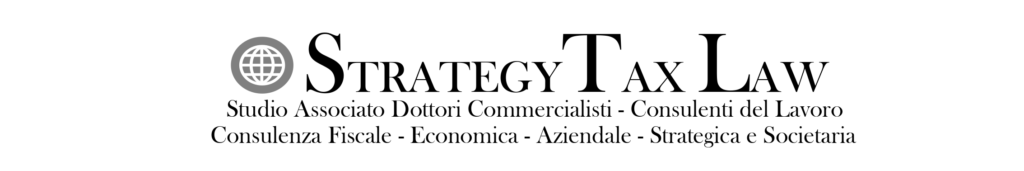 Logo Orizzontale Strategy Tax Law Completo